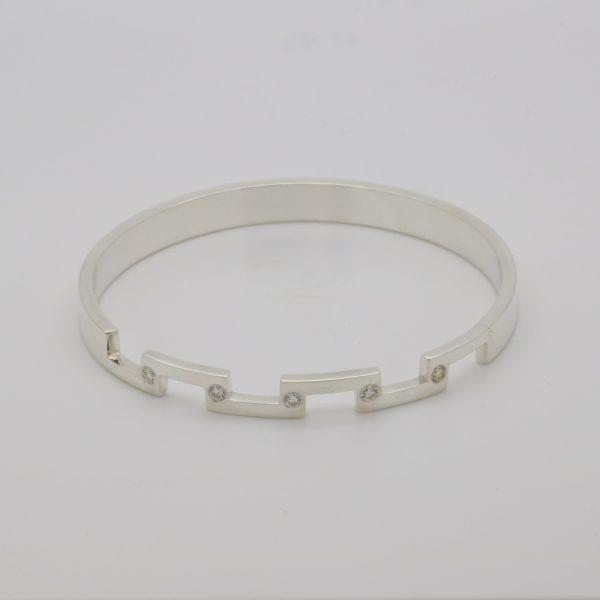 Bespoke diamond set bangle