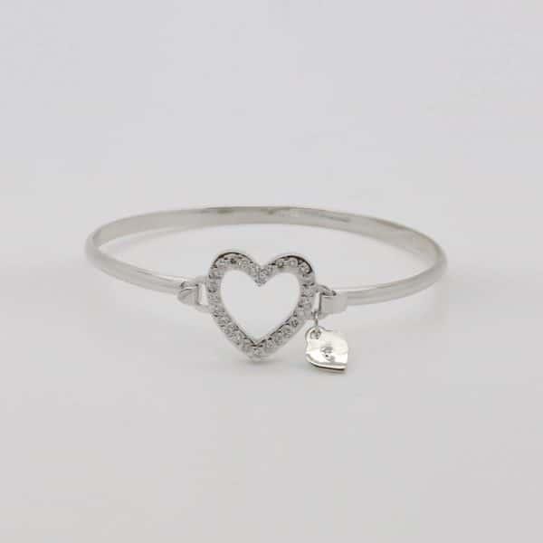 Bespoke white gold diamond set bangle