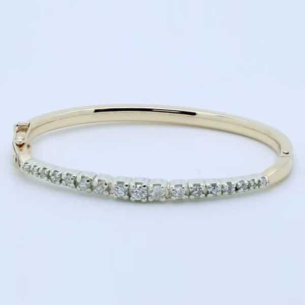 Handmade Diamond Bangle Resetting Diamonds