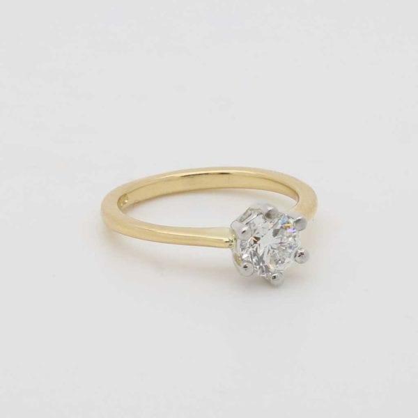Bespoke Ladies 18ct Gold Solitaire Diamond Ring