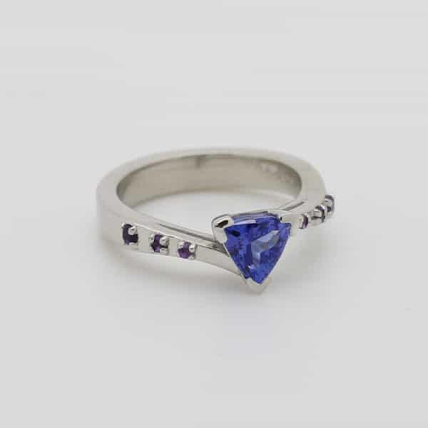 Bespoke Ladies Platinum Engagement Ring