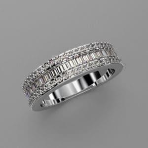 Bespoke Ladies Eternity Ring - White Gold - CAD