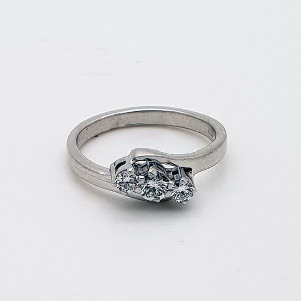 Three Stone Ladies Solitaire Ring